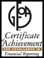 Certificate of Achievement for Excellence in Financial Reporting