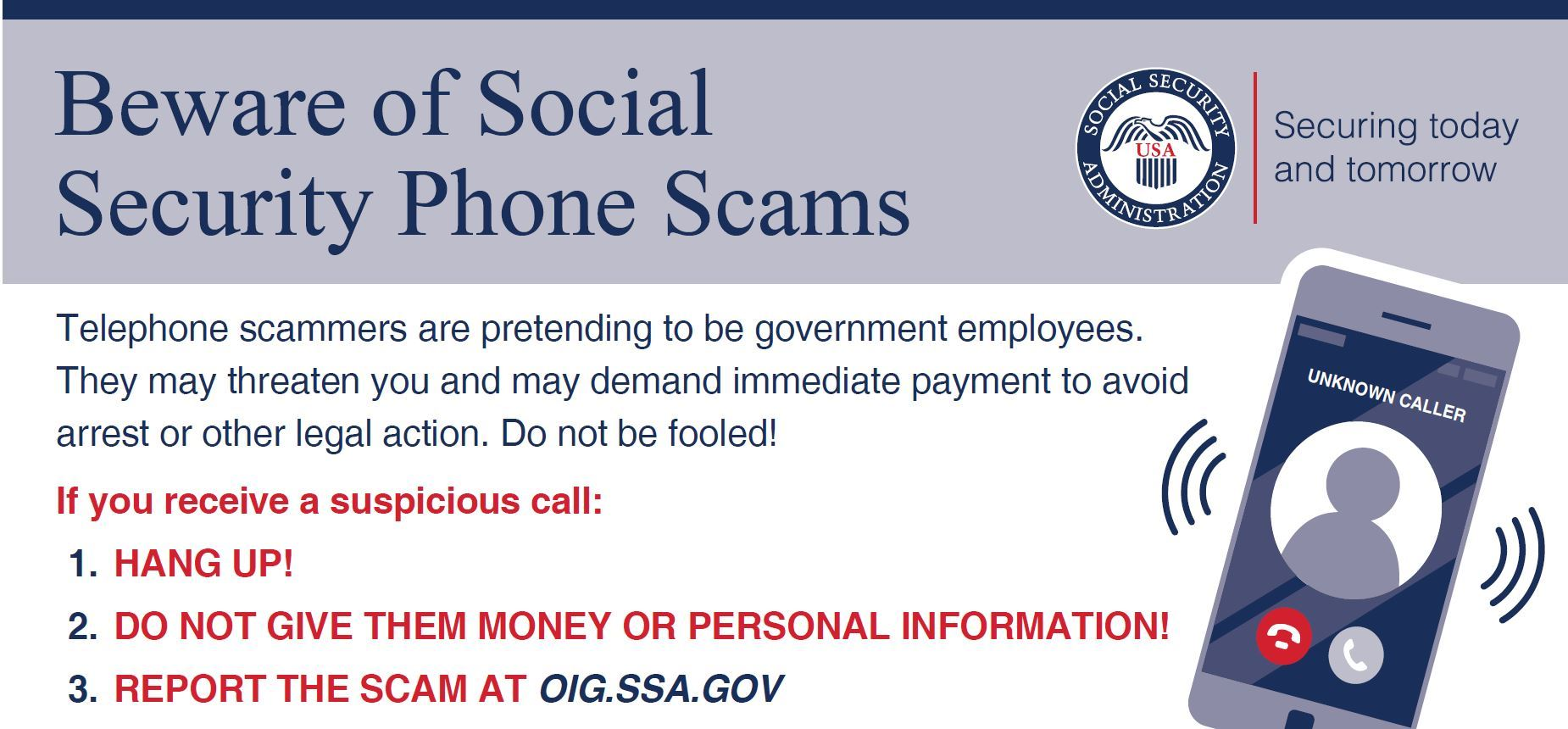 SSA Scams image